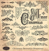 Vector set of Vintage Ornaments and Design Elements — ストックベクタ
