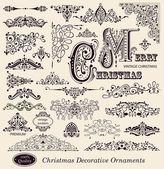 Vector set di ornamenti d'epoca ed elementi di design — Vettoriale Stock