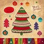 Vintage Christmas card — Stock Vector #13624884