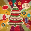 Vintage Christmas card — Stock Vector #13624915