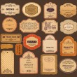 Vector collection: vintage and retro labels — Stock Vector #13626686