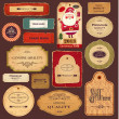 Vector collection: vintage and retro labels — Imagens vectoriais em stock