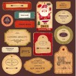 Vector collection: vintage and retro labels — Stockvectorbeeld