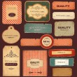 Vector collection: vintage and retro labels — Image vectorielle
