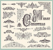 Vector set of Vintage Ornaments and Design Elements — Stock Vector