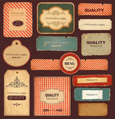 Vector collection: vintage and retro labels — Vetorial Stock