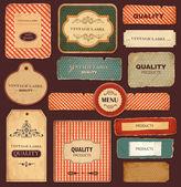 Vettore di raccolta: etichette vintage e retrò — Vettoriale Stock