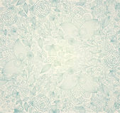 Vintage floral achtergrond — Stockvector