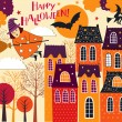Halloween holiday card — Stock Vector
