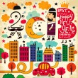 New Year illustration (2013) — Vettoriali Stock