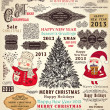 Vector collection of Christmas Ornaments and Decorative Elements - Stockvektor