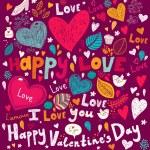 Vector art Valentine Greeting card — Stock Vector #18718545