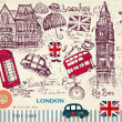 vector set Londen symbolen — Stockvector