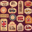 Vector set of London symbols - Stockvektor