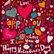 Vector art Valentine Greeting card — Vettoriali Stock