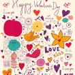 Vector art Valentine Greeting card — Stock Vector #18718443