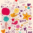 Vector art Valentine Greeting card - Stock Vector