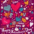 Vector art Valentine Greeting card — Stock Vector #18718545