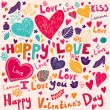 Vector art Valentine Greeting card — Stock Vector #18718567
