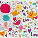 Vector art Valentine Greeting card — Stock Vector