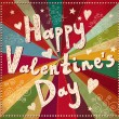 Vector Valentine Greeting card — Vector de stock