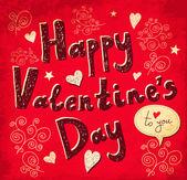 Vektorové valentýnské přání — Stock vektor