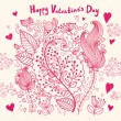 Vector Valentine Greeting card — Stock Vector #18720851