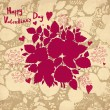 Vector Valentine Greeting card with roses — Stockvektor