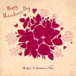 Vector Valentine Greeting card with roses — Stock Vector