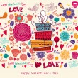 Vector Valentine Greeting card - Stock Vector