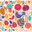 Vector detailed floral pattern — Stock Vector