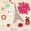 Vector set of Paris symbols - Stock Vector