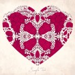 Vector Valentine Greeting card with heart - Stock Vector