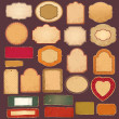 Vector collection: vintage and retro empty frames — Vector de stock