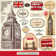 Stock Vector: London symbols