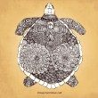 Decorative turtle - Imagen vectorial