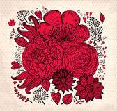 Vektör vintage çiçek arka plan — Stok Vektör