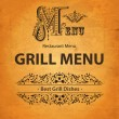Grill design of menu — Stock Vector