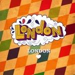 London vintage post card — Stock Vector