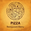 Stock Vector: Pizzdesign menu
