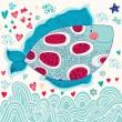 Cartoon funny fish — Stock Vector #26603277