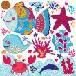 Underwater life — Stock Vector