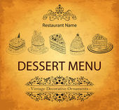 Design dessert menu for restaurant — Stock Vector