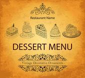 Design dessert menu for restaurant — Stock Vector