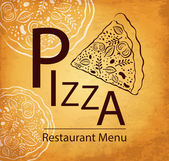 Pizza design menu — Stock Vector