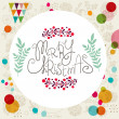 Merry Christmas holiday elements, vintage card — Stock Vector