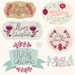 Christmas vintage labels — Stock Vector