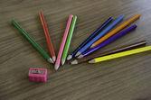 деревянные цветные карандаши. — Стоковое фото