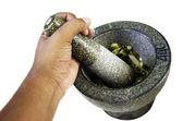 Stone mortar Thailand. — Stock Photo