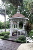 Pavilion in the garden. — Stock Photo
